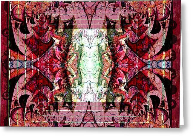 Chaotic Butterfly Mandala Greeting Card by Georgiana Romanovna