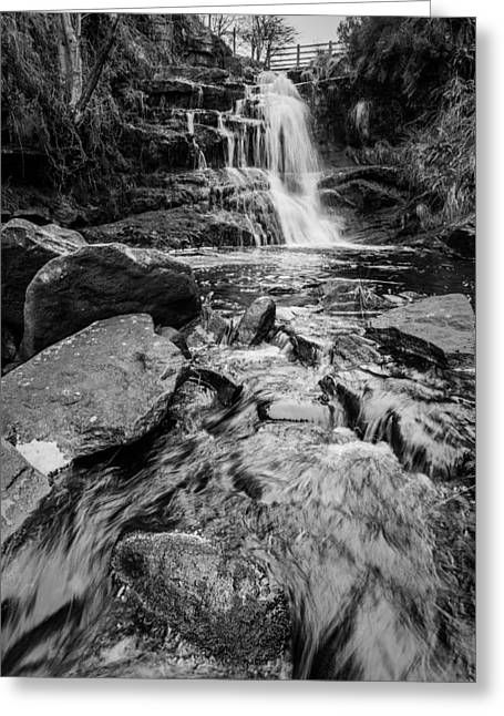 Forest Greeting Cards - Chaotic Waterfall. Greeting Card by Daniel Kay