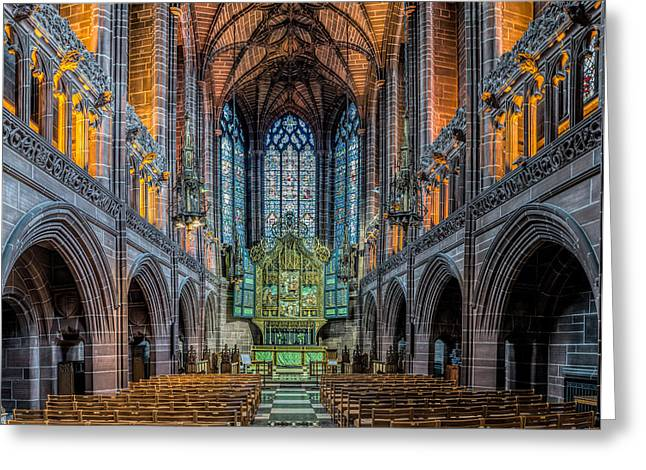 Religious Art Digital Art Greeting Cards - Chapel Greeting Card by Adrian Evans