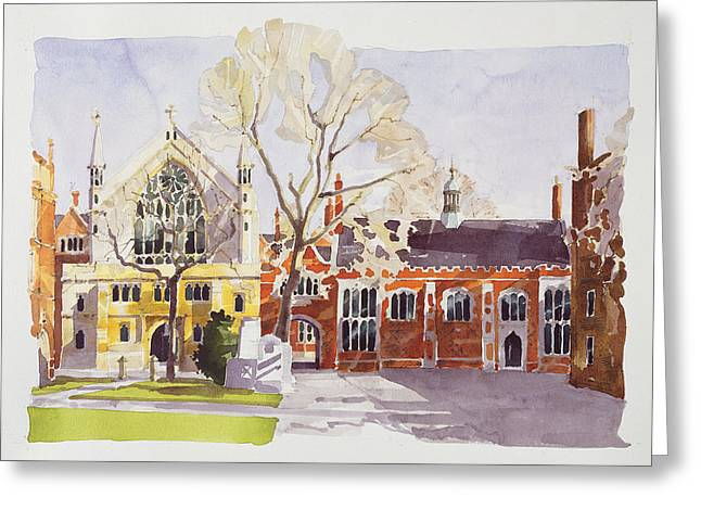 Seventeenth Greeting Cards - Chapel and Hall  Lincolns Inn Greeting Card by Annabel Wilson