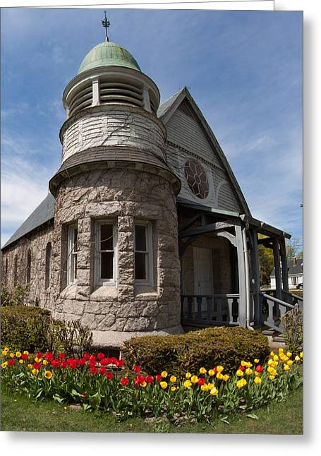 Maine Spring Greeting Cards - Chapel at Laurel Hill Cemetery Greeting Card by Kirkodd Photography Of New England