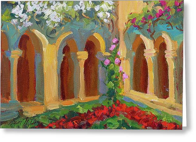 Cloister Greeting Cards - Chapel at St. Remy Greeting Card by Diane McClary