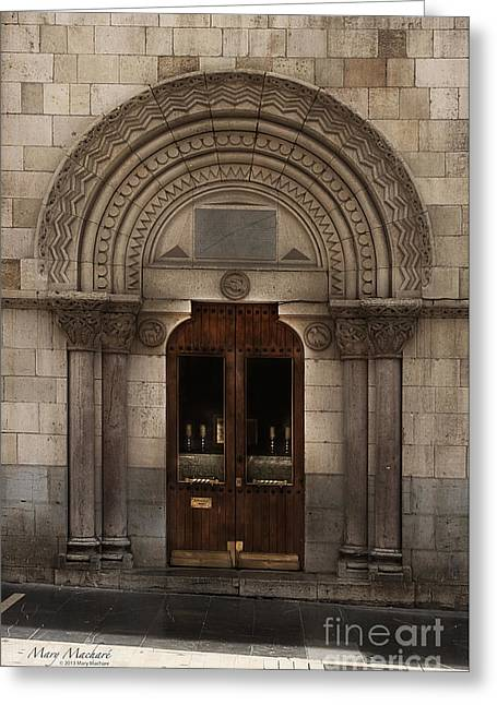 Doorway Digital Greeting Cards - Chapel Doorway - Leon Greeting Card by Mary Machare