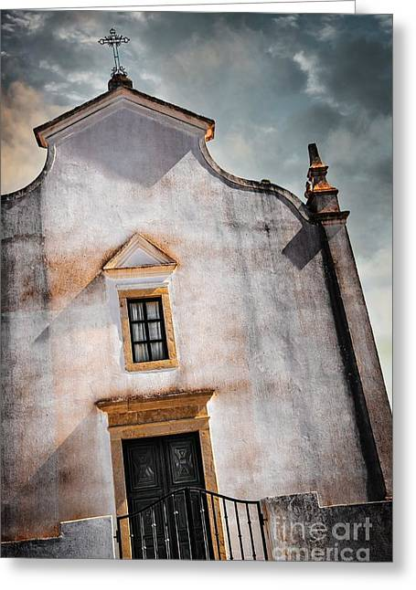Stucco Greeting Cards - Chapel Facade Greeting Card by Carlos Caetano