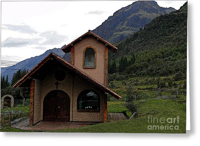 Spanish Peaks Greeting Cards - Chapel In The Cajas Greeting Card by Al Bourassa