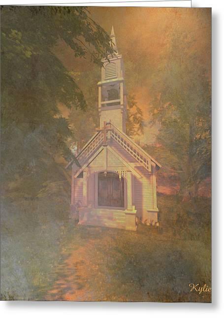 Kylie Sabra Greeting Cards - Chapel in the Wood Greeting Card by Kylie Sabra