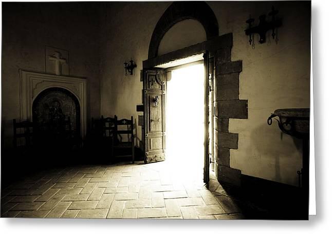 Calistoga Greeting Cards - chapel inside the Castillo di amarosa Napa claifornia Greeting Card by Mark Rodriguez aka Godriguez