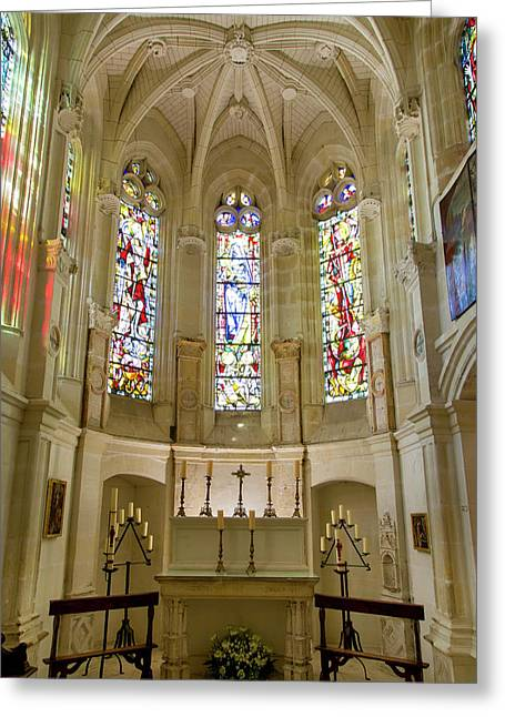 Chapel Interior Of Chateau Chenonceau Greeting Card by Brian Jannsen