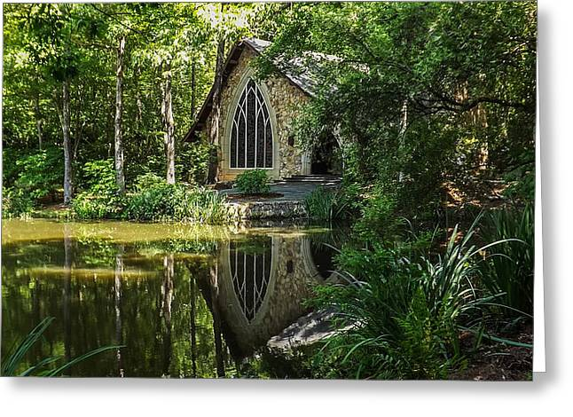 Green And Yellow Greeting Cards - Chapel  Greeting Card by Keegan Hall