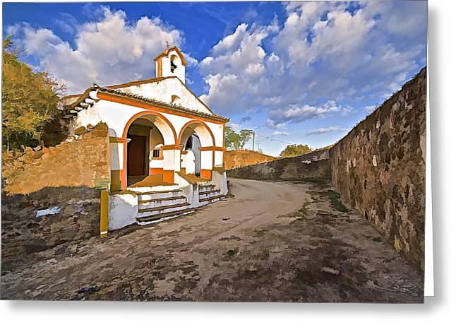 Wedding Chapel Greeting Cards - Chapel of Castelo de Vide Greeting Card by David Letts
