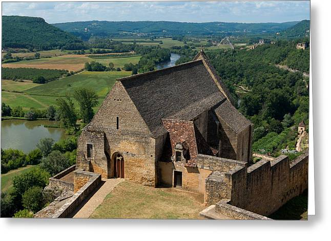 Chateau Greeting Cards - Chapel of chateau-de-Beynac in France Greeting Card by Mountain Dreams