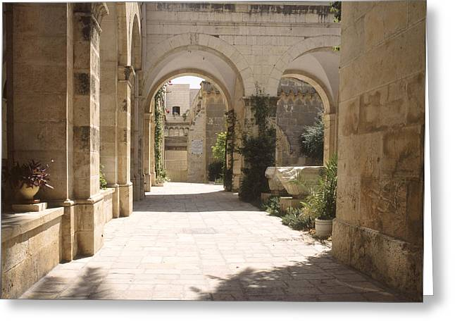 Condemnation Greeting Cards - Chapel of Condemnation Jerusalem Greeting Card by Daniel Blatt