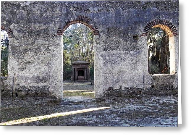 Frogmore Greeting Cards - Chapel of Ease Frogmore South Carolina Greeting Card by Patricia Greer