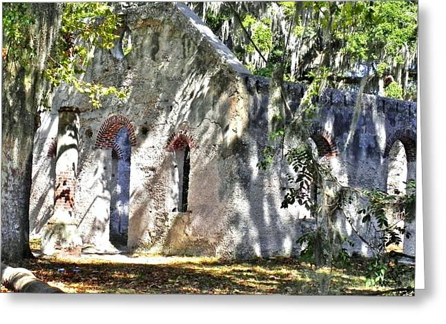 Frogmore Greeting Cards - Chapel of Ease Main Ruins Greeting Card by Patricia Greer