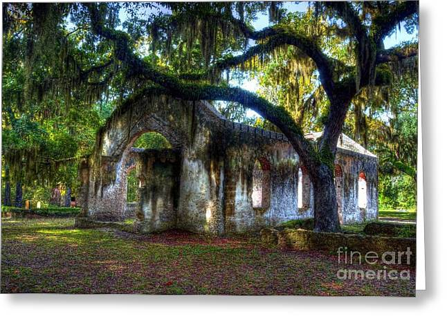 St. Helena Island Greeting Cards - Chapel Of Ease Greeting Card by Mel Steinhauer