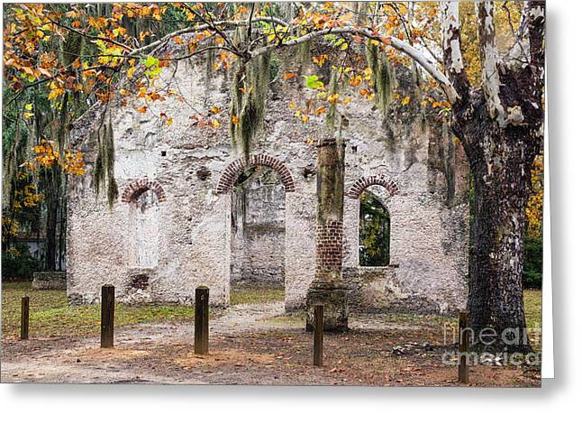 Frogmore Greeting Cards - Chapel of Ease Ruins St. Helena Island South Carolina Greeting Card by Dawna  Moore Photography