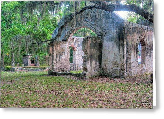 St. Helena Island Greeting Cards - Chapel of Ease with Tomb Greeting Card by Scott Hansen