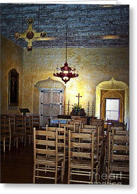 Chapel Of Guadalupe Greeting Card by Barbara R MacPhail
