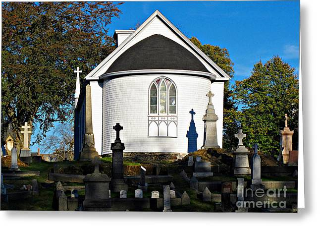 Lady Of Sorrow Greeting Cards - Chapel of Our Lady of Sorrows Greeting Card by Ethna Gillespie