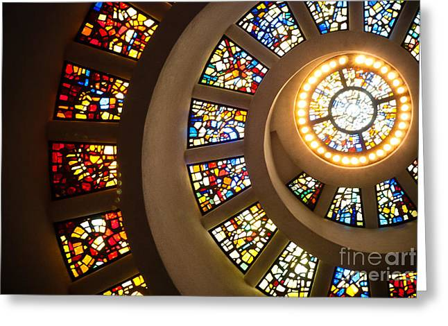 Religious Art Photographs Greeting Cards - Chapel of Thanksgiving Dallas Greeting Card by Sonja Quintero