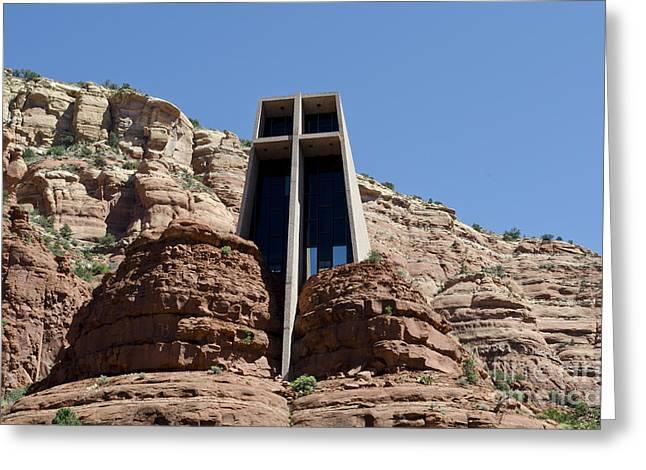 Oak Creek Greeting Cards - Chapel of the Holy Cross Greeting Card by David Gordon