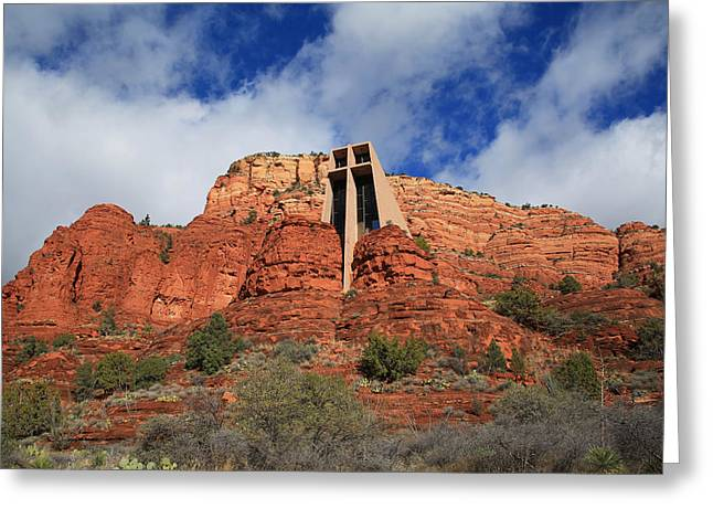 The Church Greeting Cards - Chapel of the Holy Cross Greeting Card by Donna Kennedy