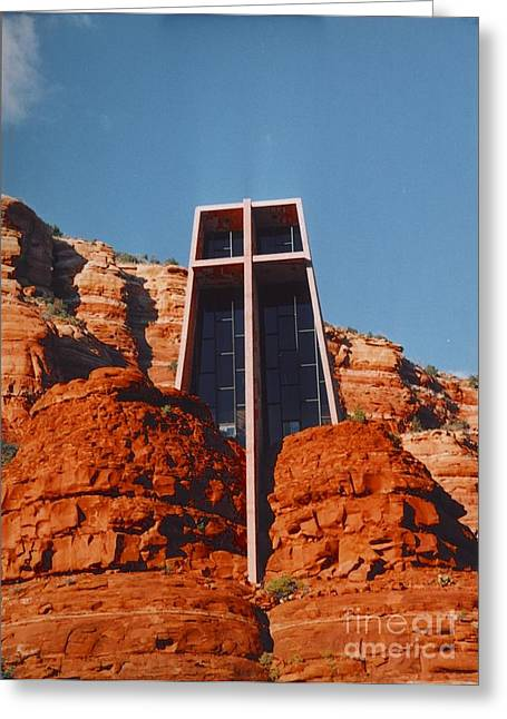 Affirmation Greeting Cards - Chapel Of The Holy Cross Greeting Card by Kathleen Struckle
