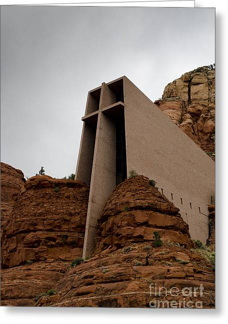 Elevation Digital Art Greeting Cards - Chapel of the Holy Cross No. 2 Greeting Card by David Gordon