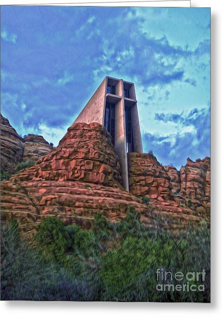 Cathedral Rock Greeting Cards - Chapel of the Holy Cross - Sedona Arizona Greeting Card by Gregory Dyer