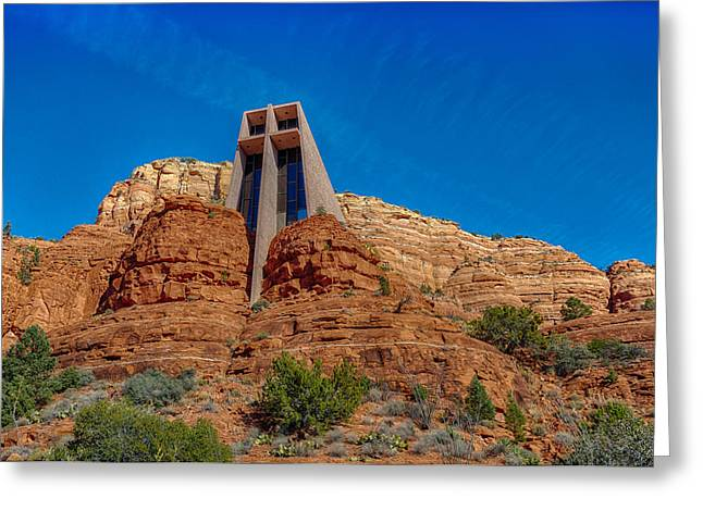 Chapel Of The Holy Cross Sedona Az Front Greeting Card by Scott Campbell