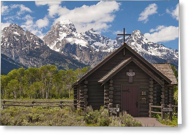 Log Cabins Photographs Greeting Cards - Chapel Of The Transfiguration - Grand Teton National Park Wyoming Greeting Card by Brian Harig