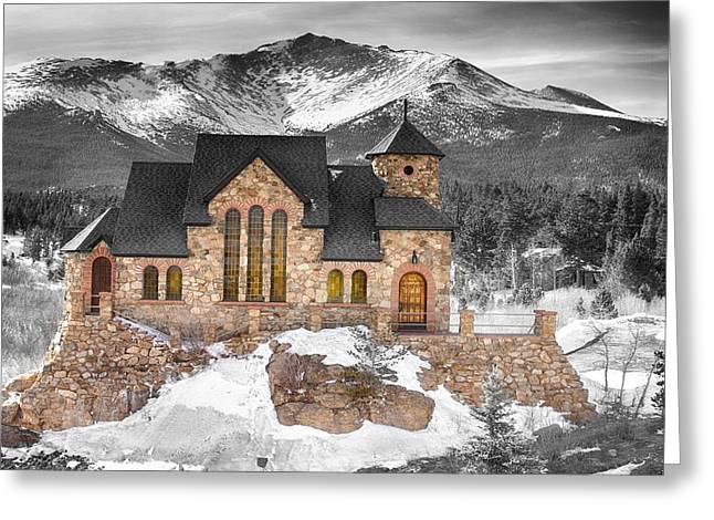 Chapel On The Rock Photographs Greeting Cards - Chapel on the Rock BWSC Greeting Card by James BO  Insogna