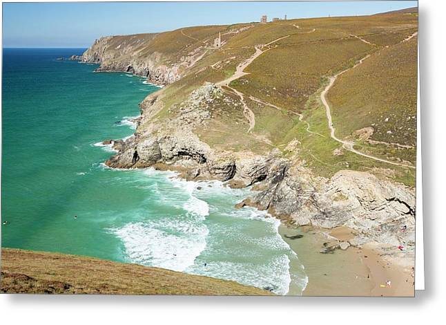 Chapel Porth On The Cornish Coast Greeting Card by Ashley Cooper