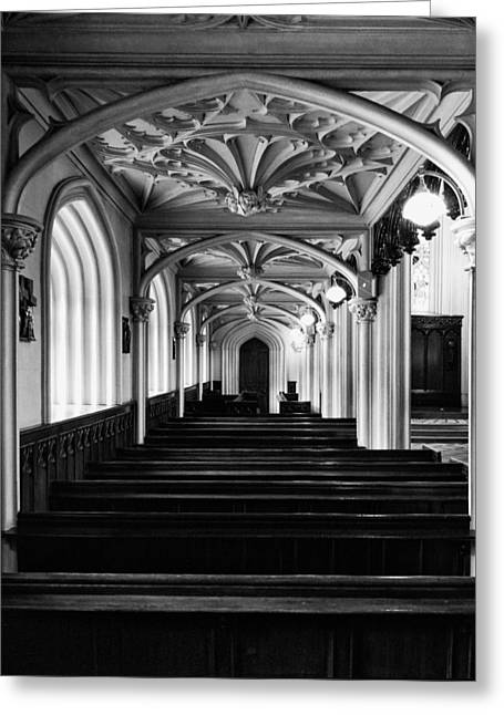Medieval Temple Greeting Cards - Chapel Royal in Dublin Castle Greeting Card by Photography  By Sai