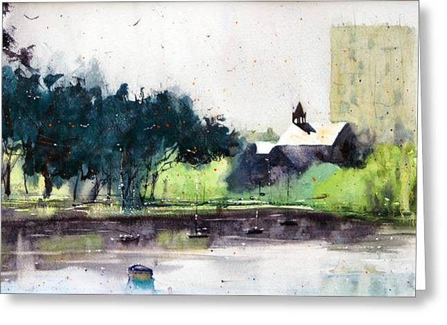 Lorient Greeting Cards - Chapel Saint Christophe Greeting Card by Andre MEHU