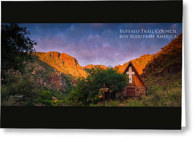 Chapel Sunrise Greeting Card by Aaron S Bedell
