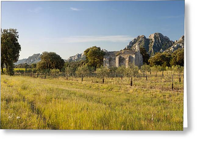 Saint-remy De Provence Greeting Cards - Chapelle de Romanin Greeting Card by Brian Jannsen