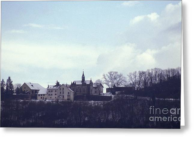 Besancon Greeting Cards - Chapelle des Buis Under Snow Greeting Card by Gregory Schultz