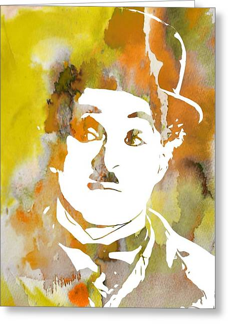 Movie Legend Greeting Cards - Chaplin Greeting Card by Dan Sproul