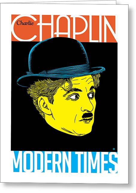 Vector Posters Greeting Cards - Chaplin Greeting Card by Gary Grayson