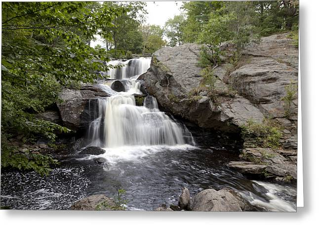 East Haddam Connecticut Greeting Cards - Chapman Falls located in Devils Hopyard State Park in East Haddam Connecticut Greeting Card by Carol M Highsmith