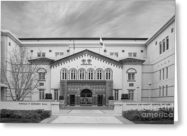 California Art Greeting Cards - Chapman University Kennedy Hall Law School Greeting Card by University Icons