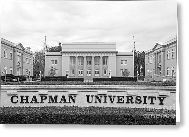 Chapman University Memorial Hall Greeting Card by University Icons