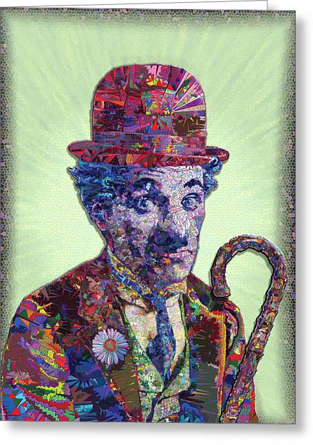 Charlie Chaplin Poster Greeting Cards - Chapster Trois Greeting Card by Douglas Christian Larsen