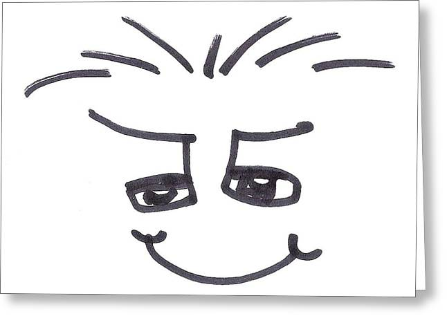 Cartoonist Drawings Greeting Cards - Character Creation - MaxiB Greeting Card by Brett Smith