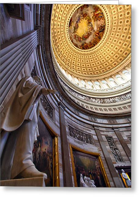 United States Capitol Dome Greeting Cards - Character Greeting Card by Mitch Cat