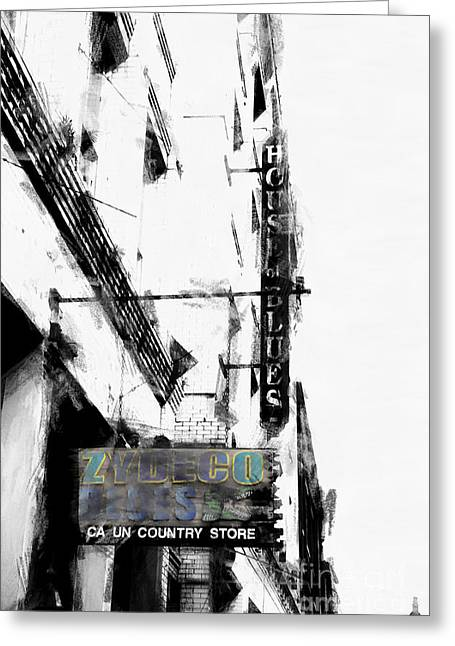 Zydeco Greeting Cards - Characteristics of New Orleans-Zydeco Blues Greeting Card by Douglas Barnard