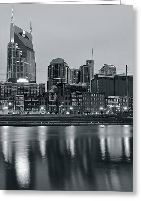 Batman Greeting Cards - Charcoal Nashville Greeting Card by Frozen in Time Fine Art Photography