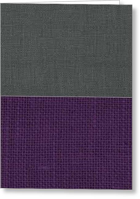 Corduroys Greeting Cards - Charcoal with Purple Greeting Card by Margaret Ivory