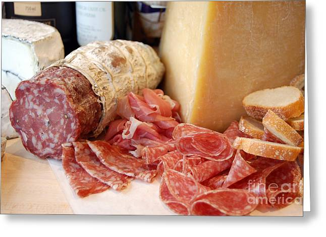 Take-out Greeting Cards - Salami and Cheese Greeting Card by Rosemarie Morelli